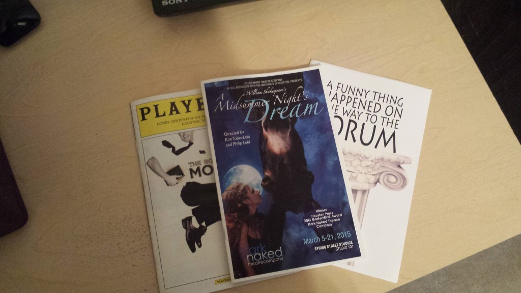 Programs from some plays that I've recently attended.